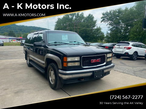 1999 GMC Suburban for sale at A - K Motors Inc. in Vandergrift PA