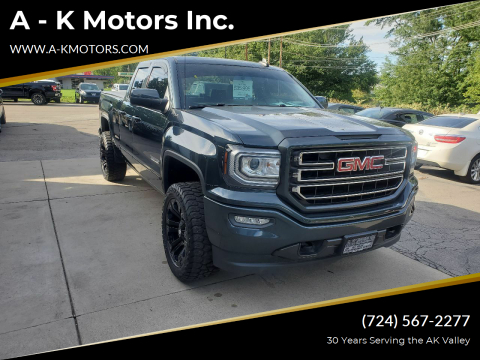 2017 GMC Sierra 1500 for sale at A - K Motors Inc. in Vandergrift PA