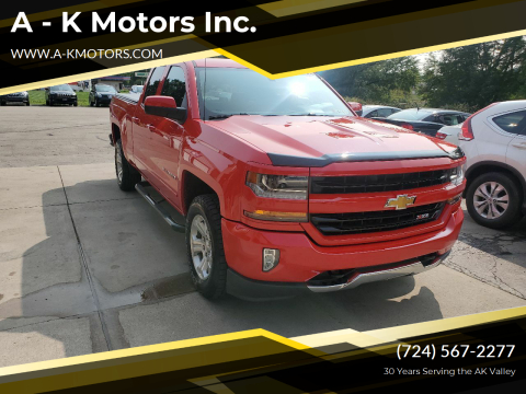 2017 Chevrolet Silverado 1500 for sale at A - K Motors Inc. in Vandergrift PA