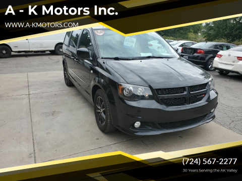 2014 Dodge Grand Caravan for sale at A - K Motors Inc. in Vandergrift PA