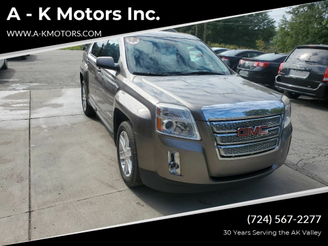 2012 GMC Terrain for sale at A - K Motors Inc. in Vandergrift PA