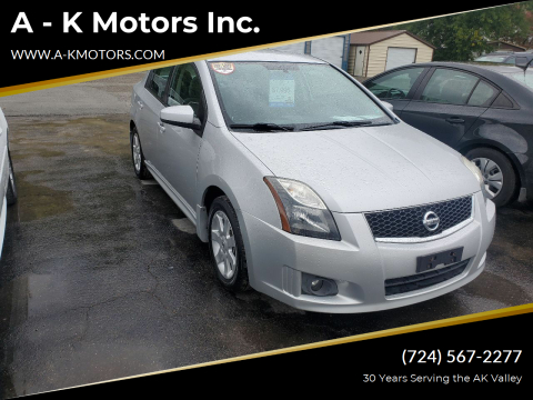 2012 Nissan Sentra for sale at A - K Motors Inc. in Vandergrift PA