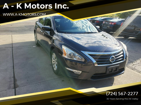 2013 Nissan Altima for sale at A - K Motors Inc. in Vandergrift PA