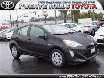 2016 Toyota Prius c for sale in City Of Industry, CA