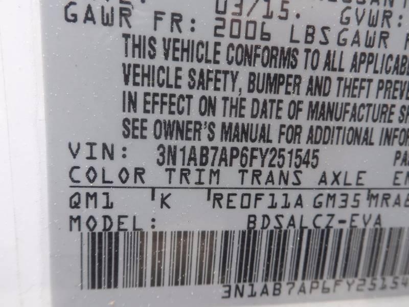 2015 Nissan Sentra S 4dr Sedan CVT - Chicopee MA