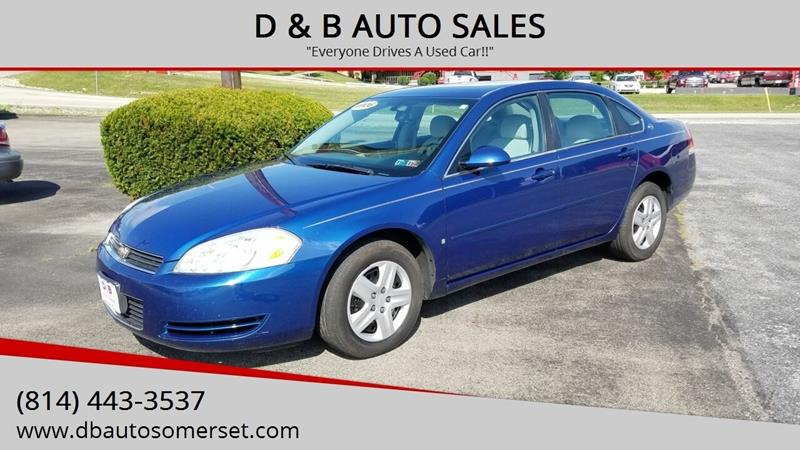B And B Auto >> D B Auto Sales Used Cars Somerset Pa Dealer