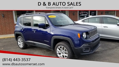 2017 Jeep Renegade for sale at D & B AUTO SALES in Somerset PA