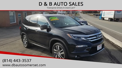 2017 Honda Pilot for sale at D & B AUTO SALES in Somerset PA