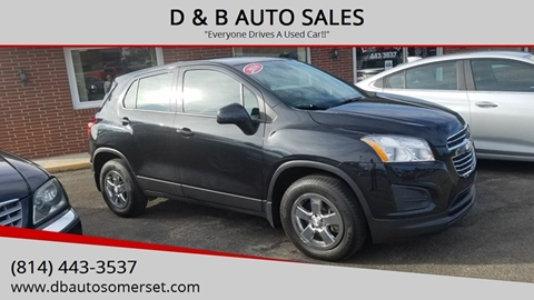2016 Chevrolet Trax for sale at D & B AUTO SALES in Somerset PA