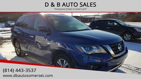 2018 Nissan Pathfinder for sale at D & B AUTO SALES in Somerset PA