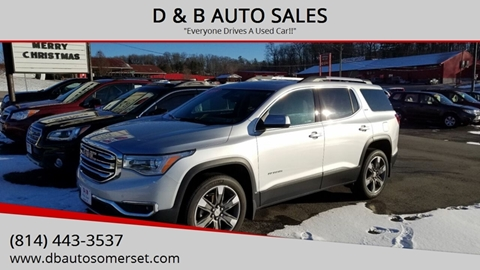 2018 GMC Acadia for sale at D & B AUTO SALES in Somerset PA