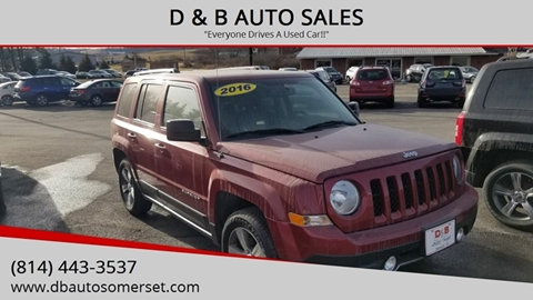 2016 Jeep Patriot for sale at D & B AUTO SALES in Somerset PA