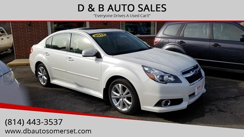 2013 Subaru Legacy for sale at D & B AUTO SALES in Somerset PA