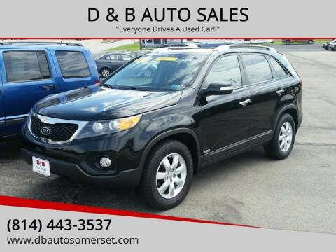 2013 Kia Sorento for sale at D & B AUTO SALES in Somerset PA