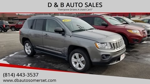 2013 Jeep Compass for sale at D & B AUTO SALES in Somerset PA