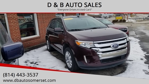 2011 Ford Edge for sale at D & B AUTO SALES in Somerset PA