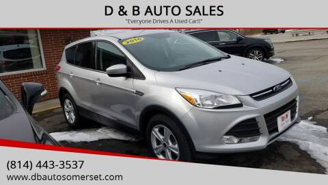 2016 Ford Escape for sale at D & B AUTO SALES in Somerset PA