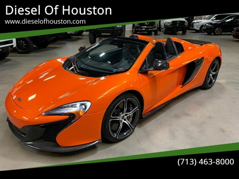 2015 McLaren 650S Spider for sale at Diesel Of Houston in Houston TX