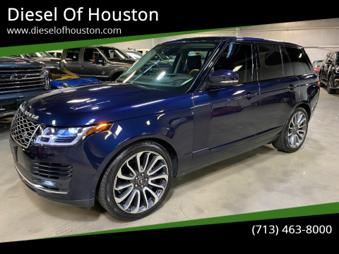 2018 Land Rover Range Rover for sale at Diesel Of Houston in Houston TX