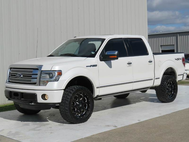 2013 ford f-150 platinum 4x4 lifted fuel wheels nav room heated