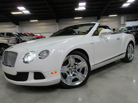 2013 Bentley Continental GTC for sale at Diesel Of Houston in Houston TX