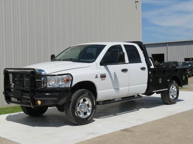 2008 dodge ram pickup 2500 slt 6 7l cummins diesel 4x4 6spd auto flat bed texas carfax in. Black Bedroom Furniture Sets. Home Design Ideas
