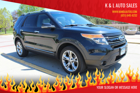 2013 Ford Explorer for sale at K & L Auto Sales in Saint Paul MN