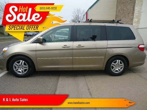 2006 Honda Odyssey for sale at K & L Auto Sales in Saint Paul MN