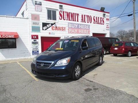 2006 Honda Odyssey for sale at Summit Auto Sales Inc in Pontiac MI