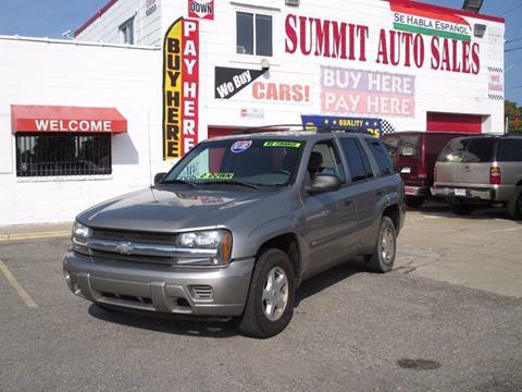 2003 Chevrolet TrailBlazer for sale at Summit Auto Sales Inc in Pontiac MI
