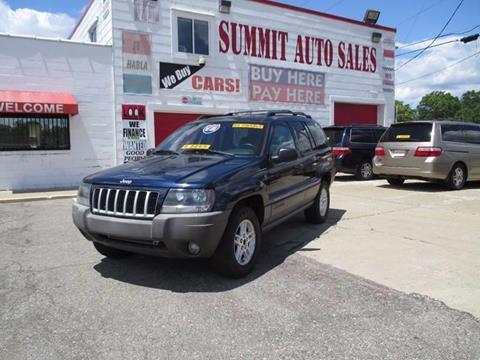 2004 Jeep Grand Cherokee for sale at Summit Auto Sales Inc in Pontiac MI