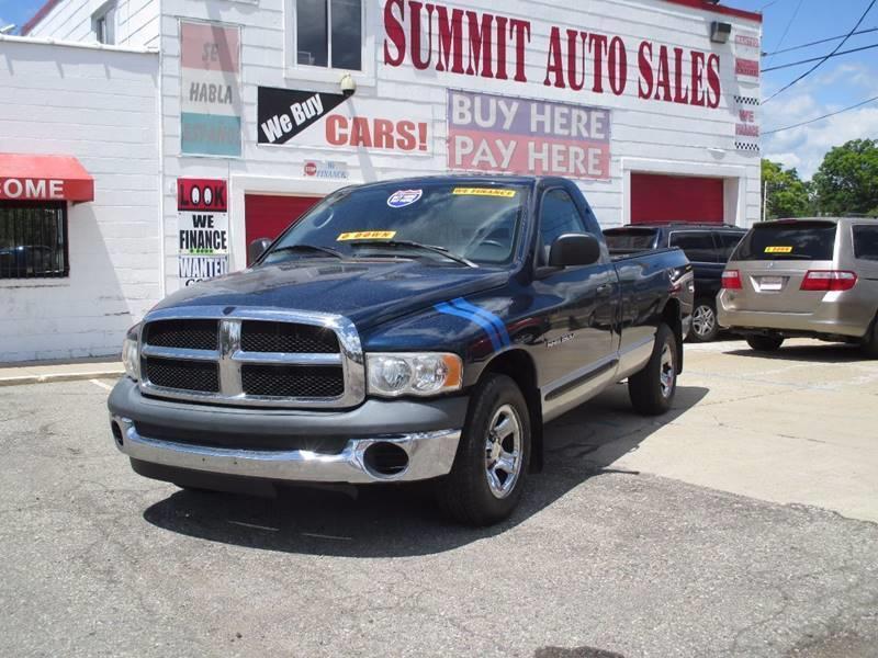 2004 Dodge Ram Pickup 1500 for sale at Summit Auto Sales Inc in Pontiac MI