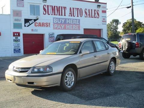 2000 Chevrolet Impala for sale at Summit Auto Sales Inc in Pontiac MI