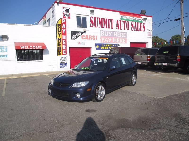 2003 Mazda Protege5 for sale at Summit Auto Sales Inc in Pontiac MI