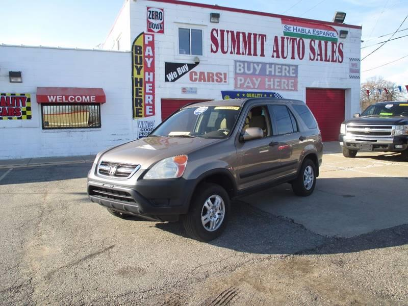 2003 Honda Cr-v car for sale in Detroit