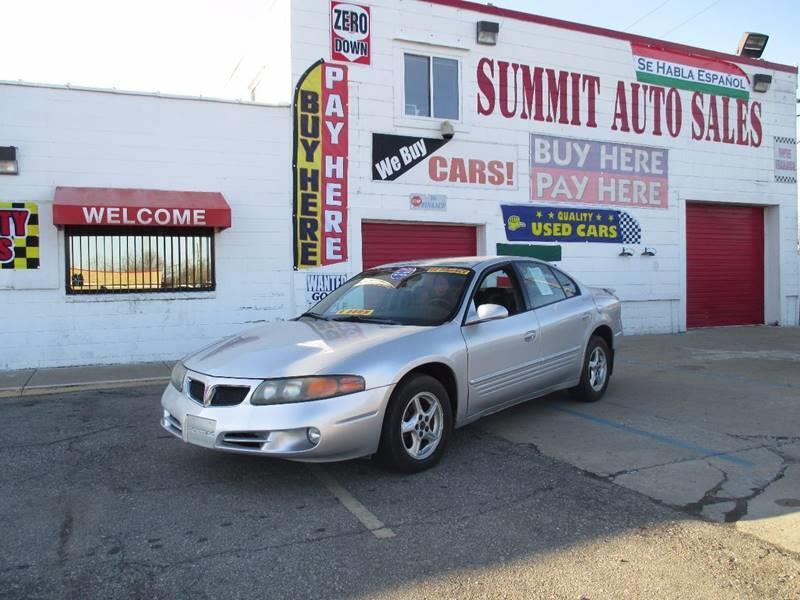 2002 Pontiac Bonneville car for sale in Detroit