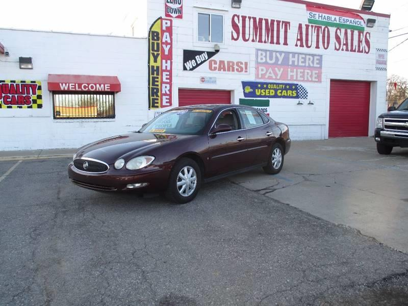 Summit Auto Sales >> 2006 Buick Lacrosse Cx In Pontiac Mi Summit Auto Sales Inc