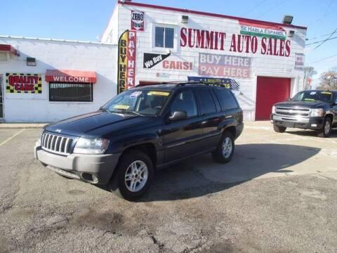 2004 Jeep Grand Cherokee Laredo for sale at Summit Auto Sales Inc in Pontiac MI