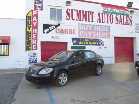 2009 Pontiac G5 for sale at Summit Auto Sales Inc in Pontiac MI