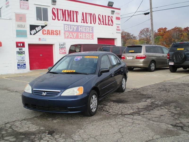 2003 Honda Civic  Miles 0Color Blue Stock 7023 VIN 1HGES165X3L037182