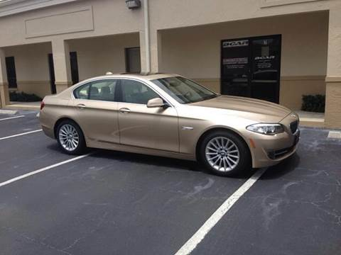 2013 BMW 5 Series for sale at Bcar Inc. in Fort Myers FL