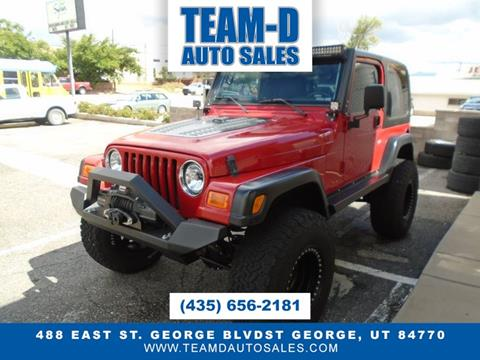 2002 Jeep Wrangler for sale in St George, UT