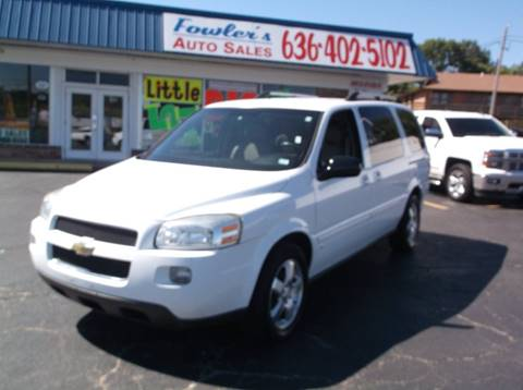 2008 Chevrolet Uplander for sale at Fowler's Auto Sales in Pacific MO