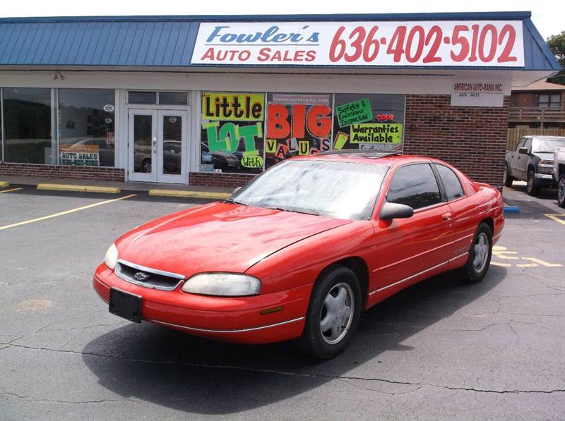 1999 Chevrolet Monte Carlo for sale at Fowler's Auto Sales in Pacific MO