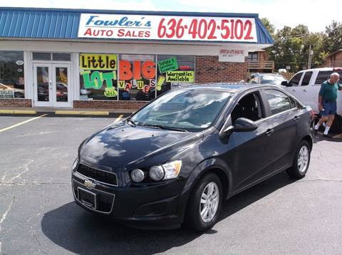 2013 Chevrolet Sonic for sale at Fowler's Auto Sales in Pacific MO