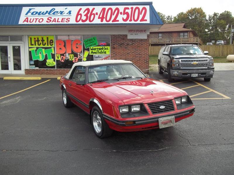 1983 Ford Mustang for sale at Fowler's Auto Sales in Pacific MO