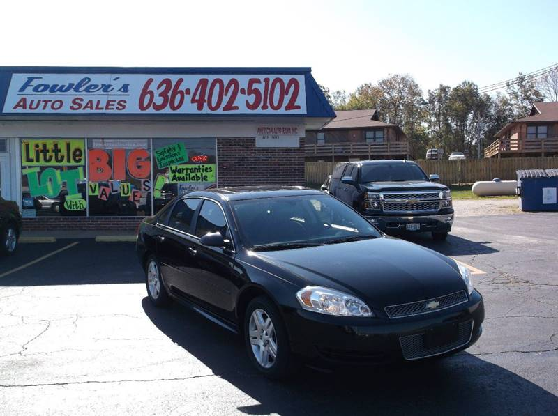 2012 Chevrolet Impala for sale at Fowler's Auto Sales in Pacific MO