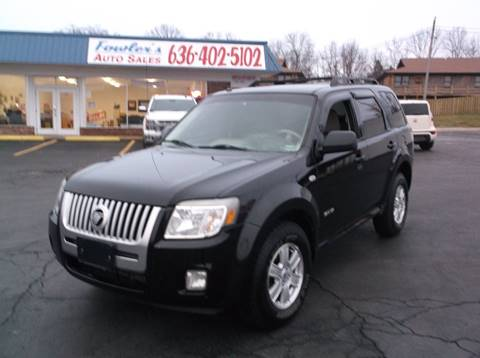 2008 Mercury Mariner for sale at Fowler's Auto Sales in Pacific MO