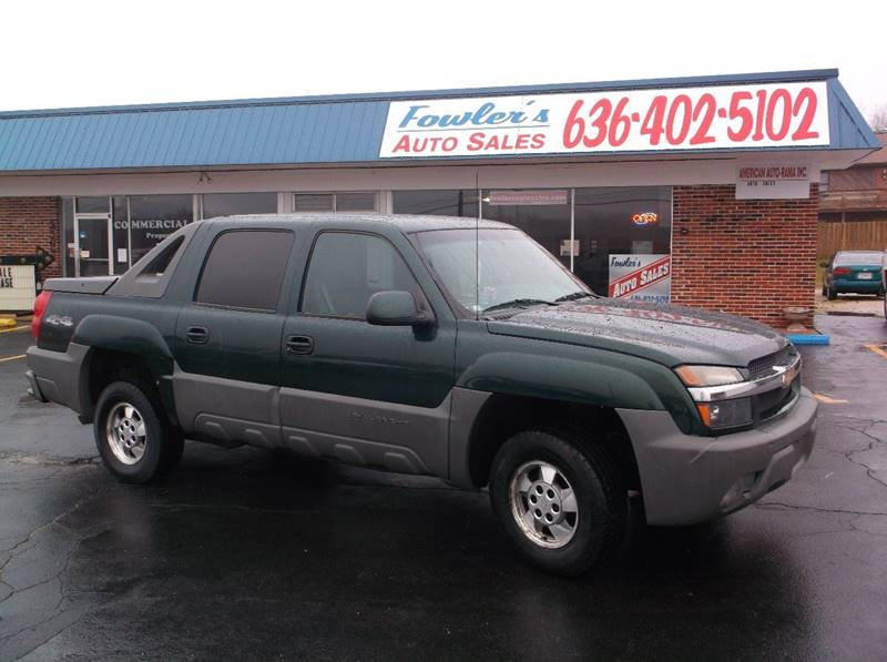 2002 Chevrolet Avalanche for sale at Fowler's Auto Sales in Pacific MO