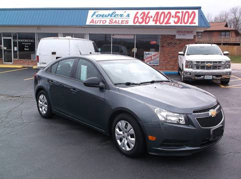 2013 Chevrolet Cruze for sale at Fowler's Auto Sales in Pacific MO
